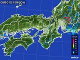 2016年08月01日の近畿地方の雨雲レーダー