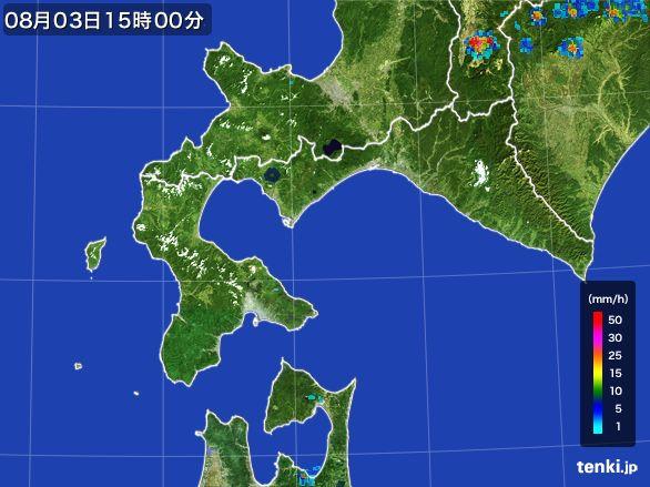 道南の雨雲レーダー(2016年08月03日)