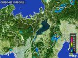 2016年08月04日の滋賀県の雨雲レーダー