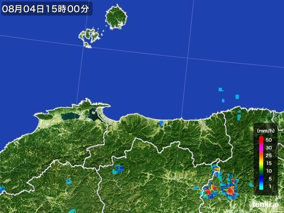 鳥取県の雨雲レーダー(2016年08月04日)