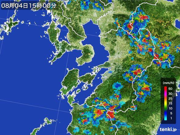 熊本県の雨雲レーダー(2016年08月04日)