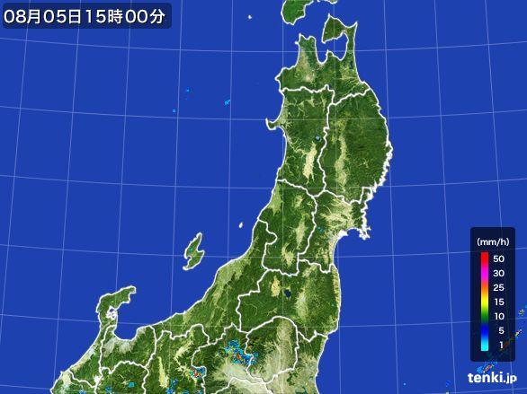 東北地方の雨雲レーダー(2016年08月05日)