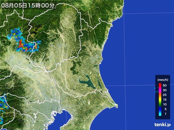 茨城県の雨雲レーダー(2016年08月05日)