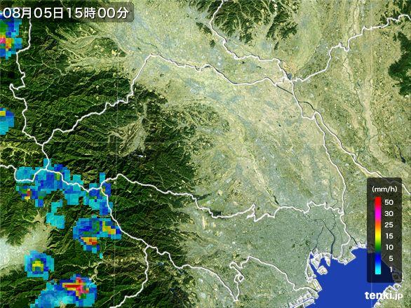 埼玉県の雨雲レーダー(2016年08月05日)