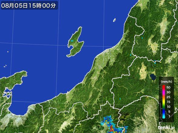 新潟県の雨雲レーダー(2016年08月05日)