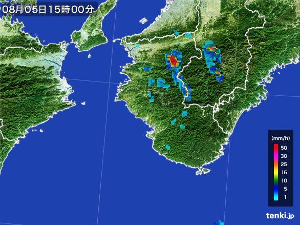 和歌山県の雨雲レーダー(2016年08月05日)