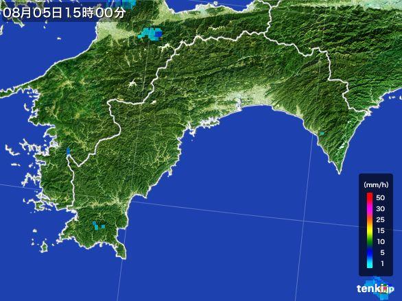 高知県の雨雲レーダー(2016年08月05日)