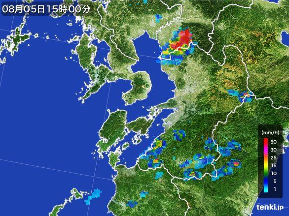 熊本県の雨雲レーダー(2016年08月05日)