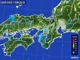 2016年08月06日の近畿地方の雨雲レーダー