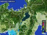 2016年08月06日の滋賀県の雨雲レーダー