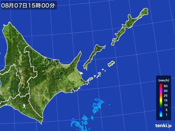道東の雨雲レーダー(2016年08月07日)