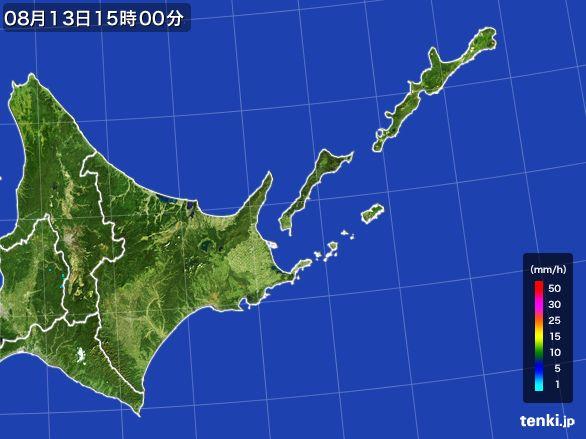 道東の雨雲レーダー(2016年08月13日)