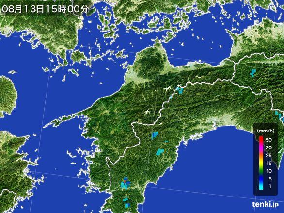 愛媛県の雨雲レーダー(2016年08月13日)