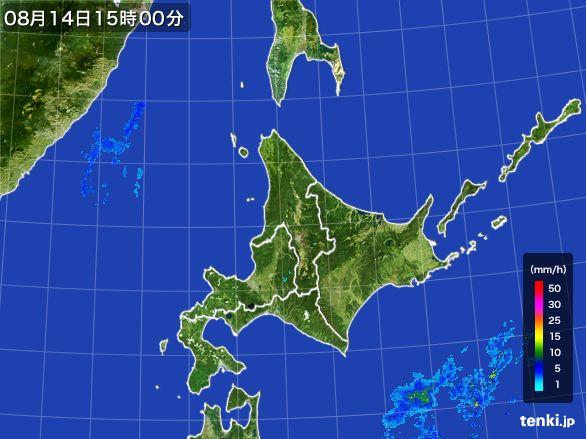 北海道地方の雨雲レーダー(2016年08月14日)