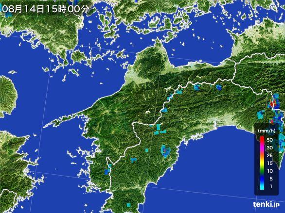 愛媛県の雨雲レーダー(2016年08月14日)