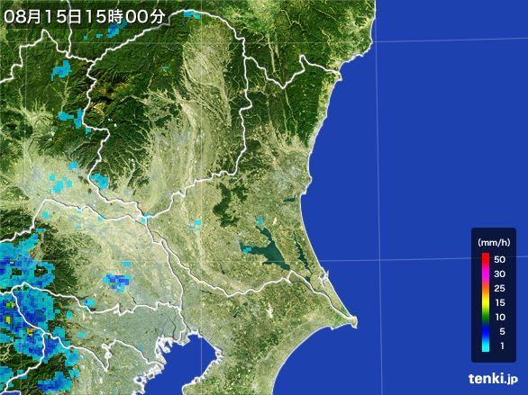 茨城県の雨雲レーダー(2016年08月15日)