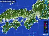 2016年08月18日の近畿地方の雨雲レーダー