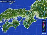 2016年08月19日の近畿地方の雨雲レーダー