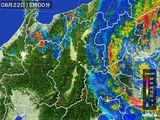 2016年08月22日の長野県の雨雲レーダー