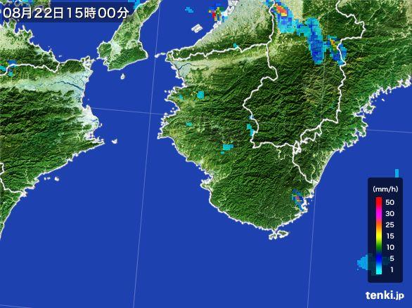 和歌山県の雨雲レーダー(2016年08月22日)