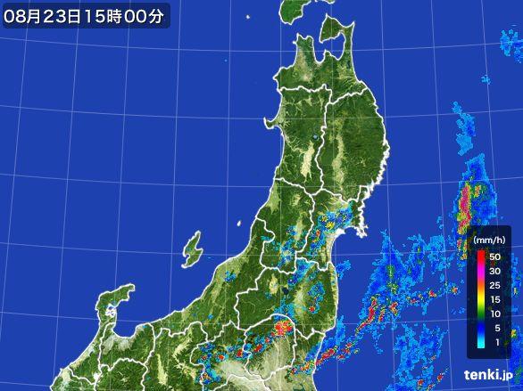 東北地方の雨雲レーダー(2016年08月23日)
