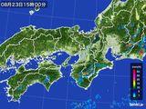 2016年08月23日の近畿地方の雨雲レーダー