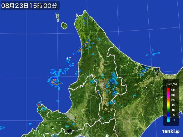 道北の雨雲レーダー(2016年08月23日)