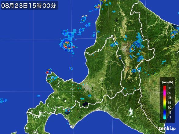 道央の雨雲レーダー(2016年08月23日)