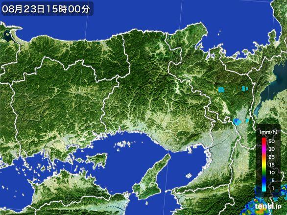兵庫県の雨雲レーダー(2016年08月23日)