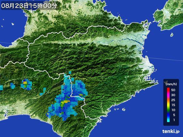 徳島県の雨雲レーダー(2016年08月23日)
