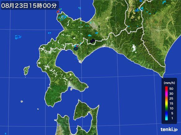 道南の雨雲レーダー(2016年08月23日)