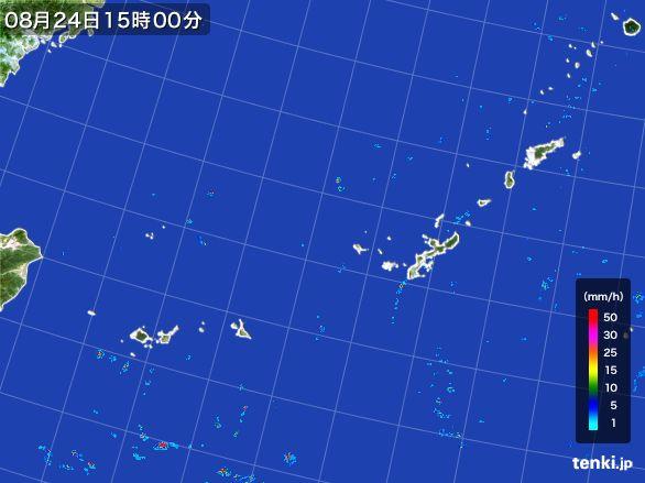 沖縄地方の雨雲レーダー(2016年08月24日)