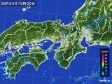 2016年08月24日の近畿地方の雨雲レーダー