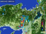 雨雲レーダー(2016年08月24日)