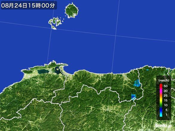 鳥取県の雨雲レーダー(2016年08月24日)
