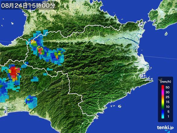 徳島県の雨雲レーダー(2016年08月24日)