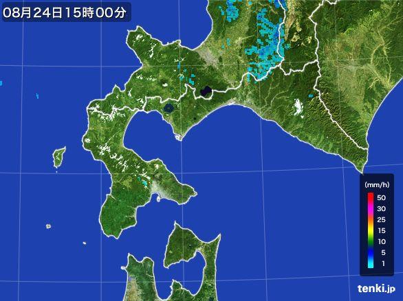 道南の雨雲レーダー(2016年08月24日)