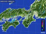 2016年08月25日の近畿地方の雨雲レーダー