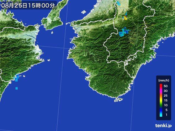 和歌山県の雨雲レーダー(2016年08月25日)