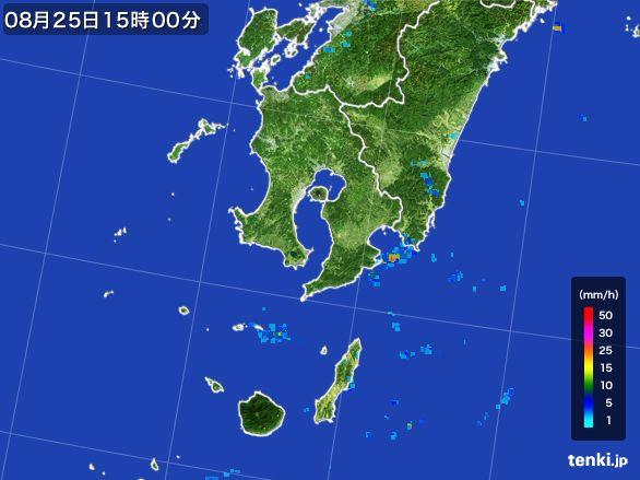 鹿児島県の雨雲レーダー(2016年08月25日)