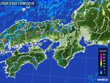 2016年08月26日の近畿地方の雨雲レーダー