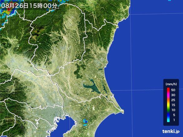 茨城県の雨雲レーダー(2016年08月26日)