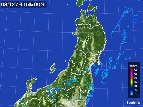 東北地方の雨雲レーダー(2016年08月27日)
