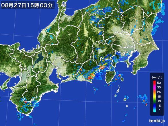 東海地方の雨雲レーダー(2016年08月27日)