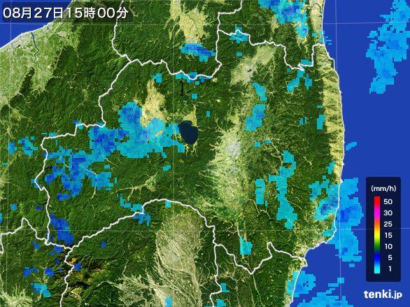福島県の雨雲レーダー(2016年08月27日)