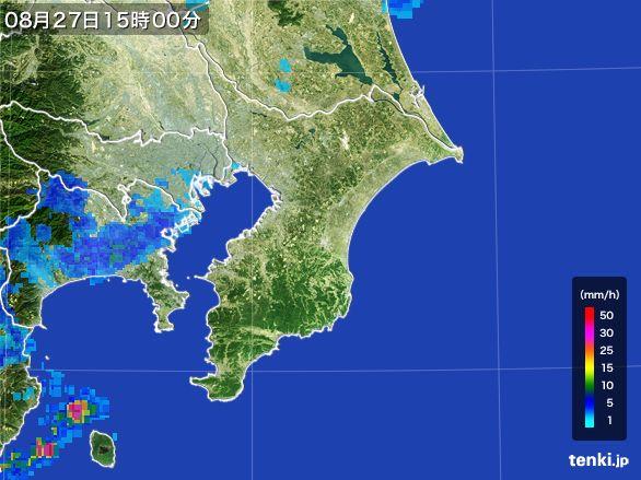 千葉県の雨雲レーダー(2016年08月27日)