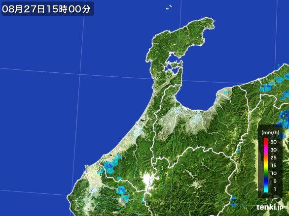 石川県の雨雲レーダー(2016年08月27日)