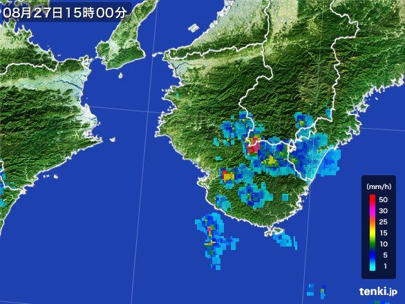 和歌山県の雨雲レーダー(2016年08月27日)