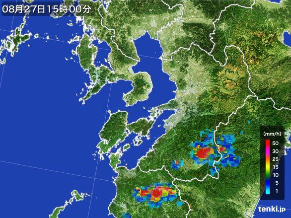 熊本県の雨雲レーダー(2016年08月27日)