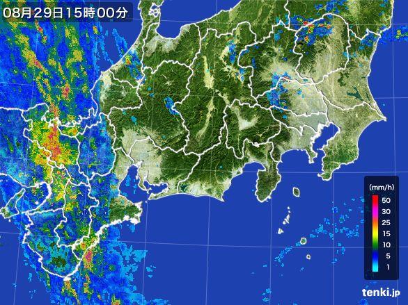 東海地方の雨雲レーダー(2016年08月29日)